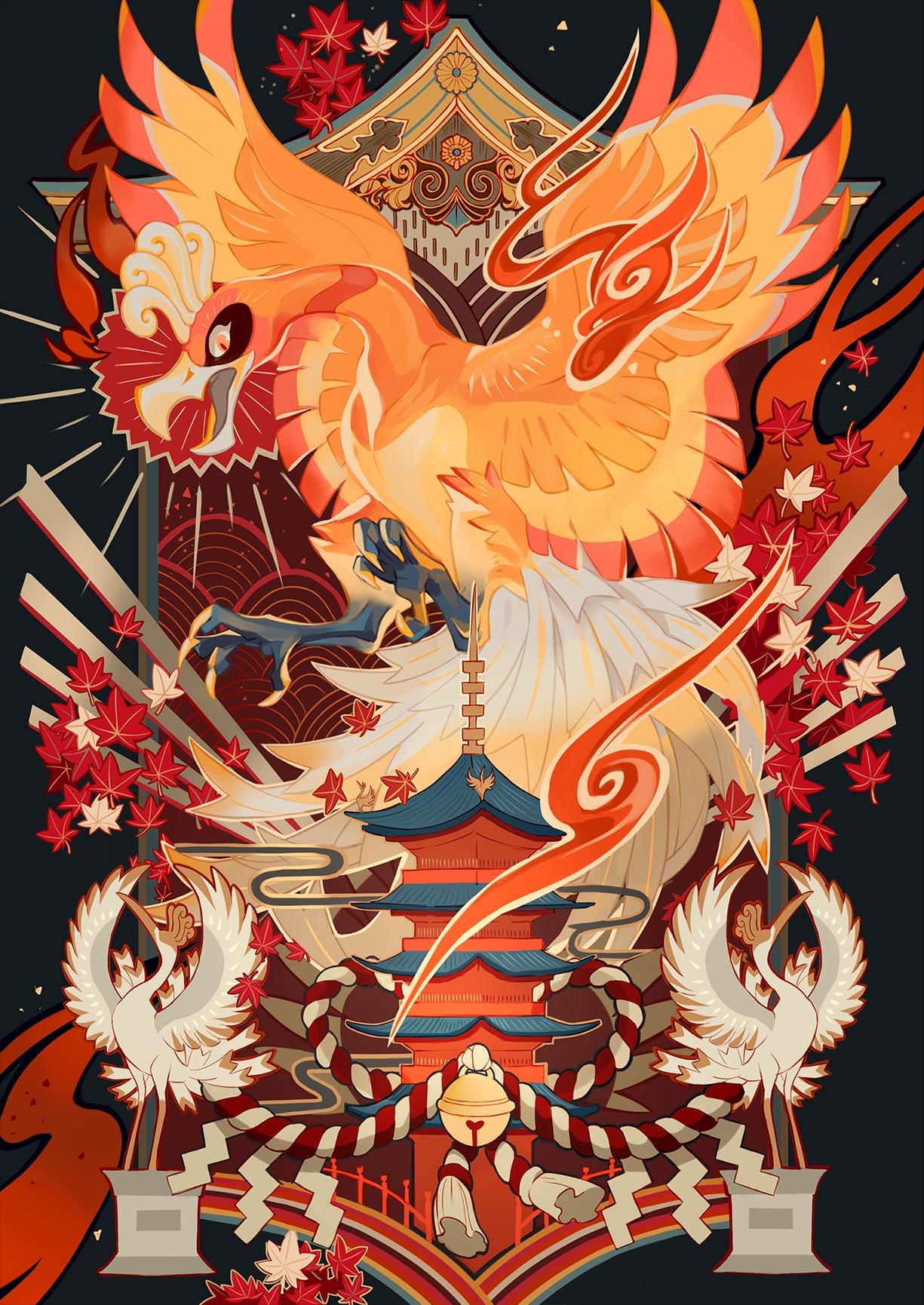 Ho oh   Pokmon   Mobile Wallpaper 2084926   Zerochan Anime Image 1225x1730