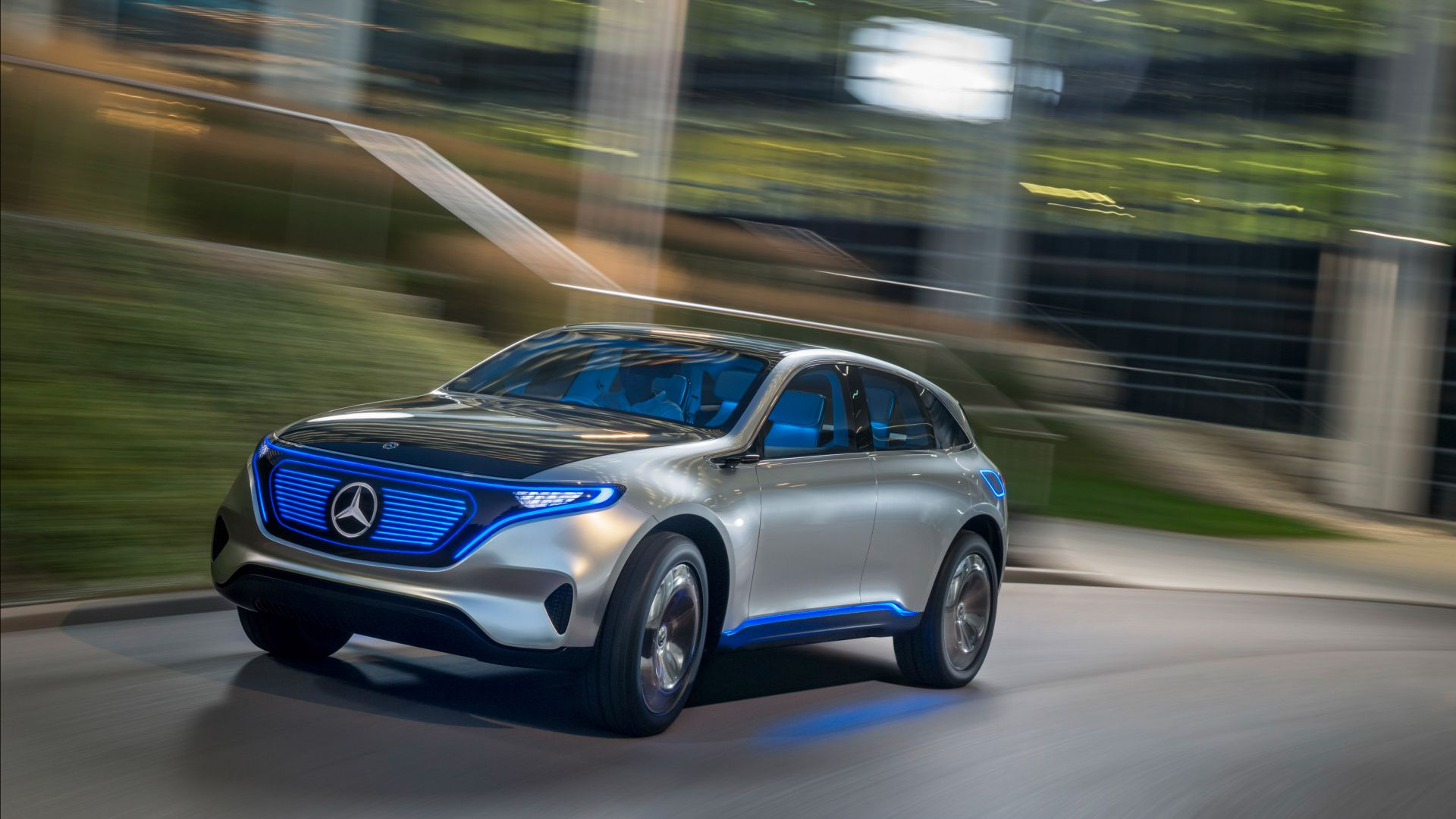 Wallpaper Mercedes Benz EQC SUV 2019 Cars electric cars 4K 1920x1080