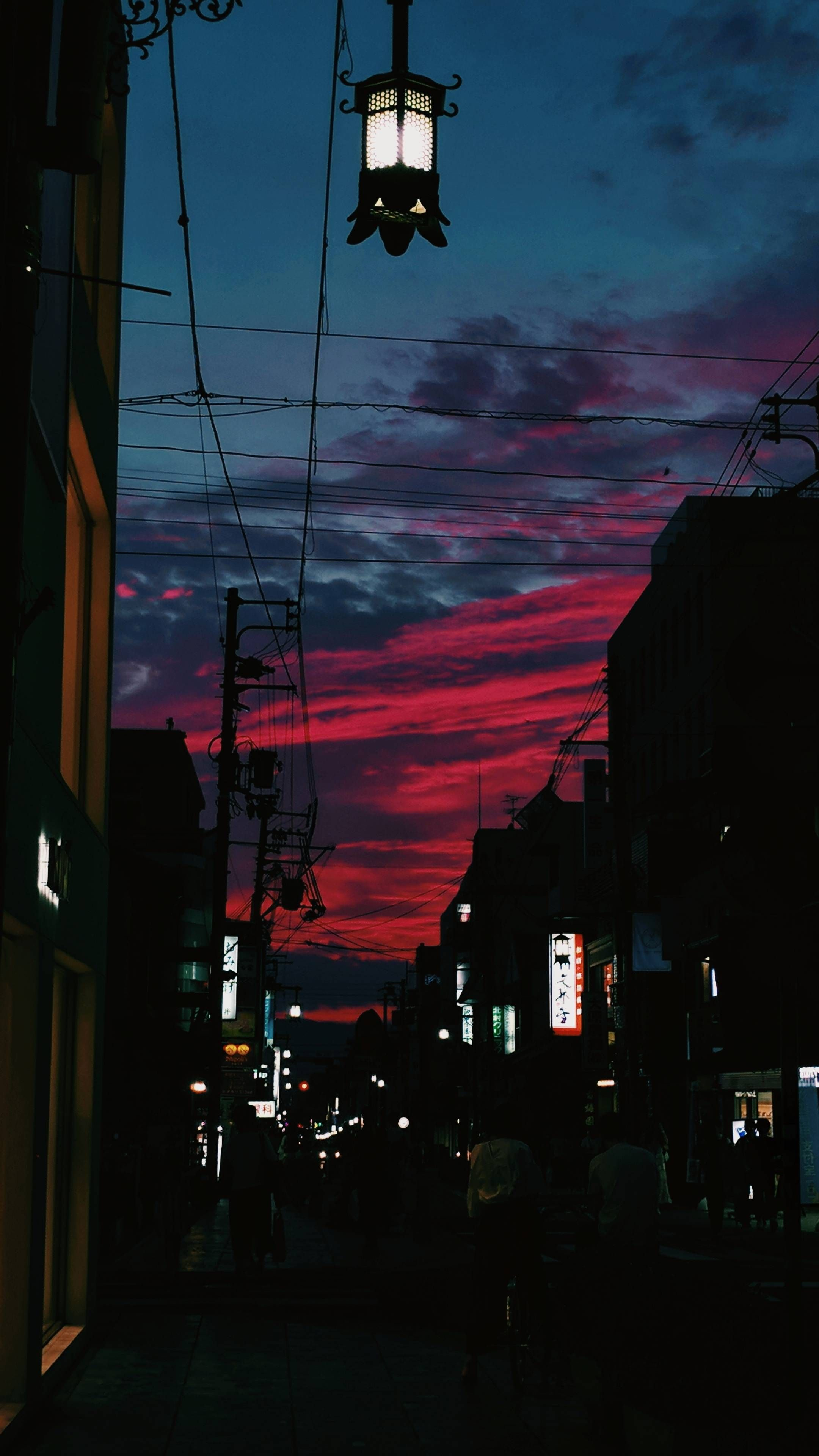 OC][2160x3840] Todays sunset was crazy in Nara Japan 2160x3840