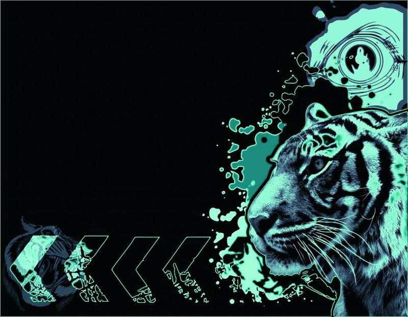 Tiger Neon Wallpaper RocketDockcom 800x622