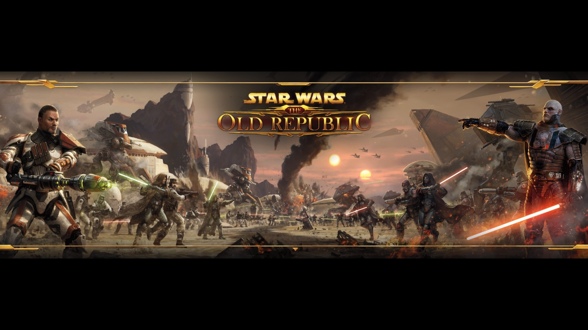 Download wallpaper 1920x1080 star wars the old republic battle 1920x1080