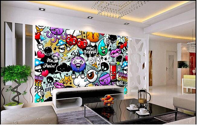 Graffiti Wallpaper For Bedrooms Graffiti Wallpaper for...