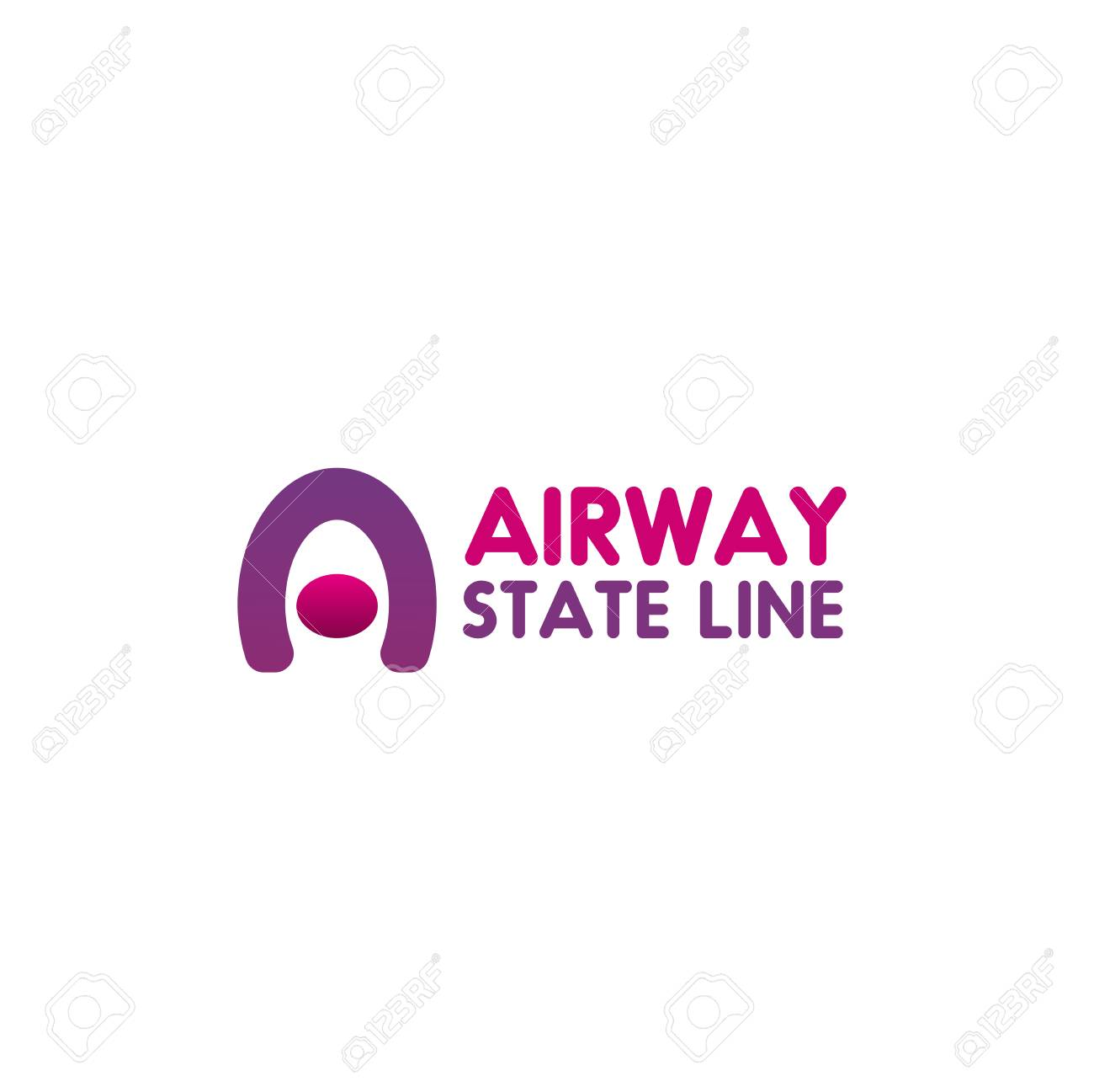 Airway State Line Vector Icon In Pink And Magenta Colors Isolated 1300x1297