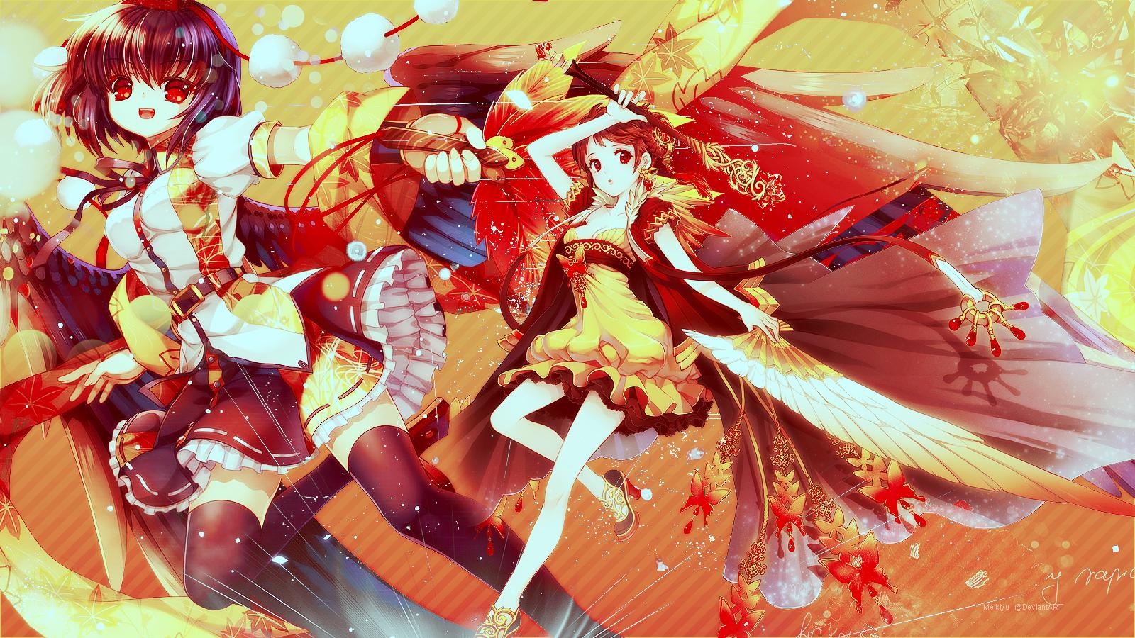 Anime Autumn Wallpaper by Meikiyu 1600x900