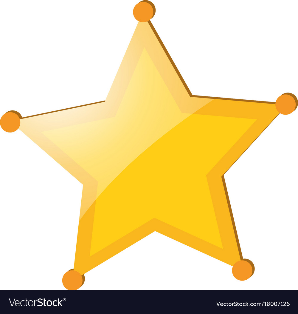 Yellow star badge on white background Royalty Vector 1000x1052