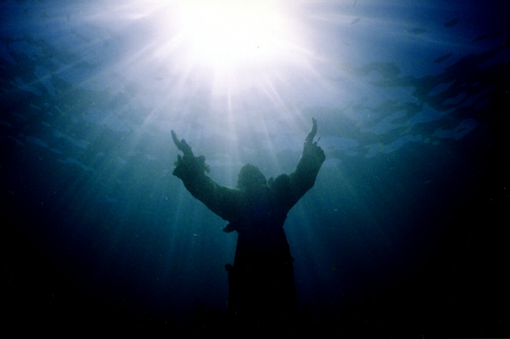 Christ of the Abyss wallpaper image sunlight 1734x1152