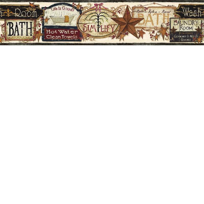 Black Life is Good Wallpaper Border   Rustic Country Primitive 800x800