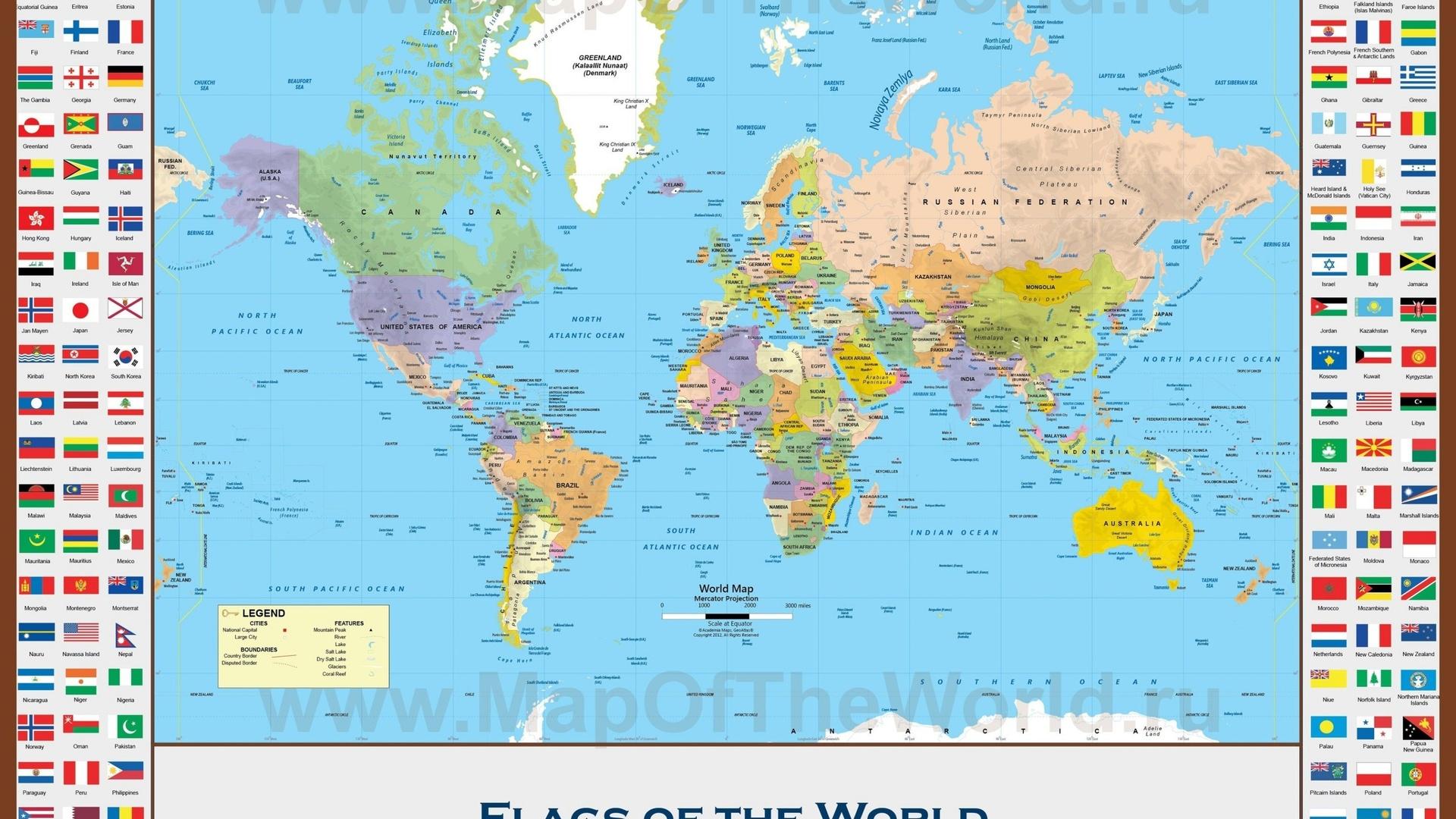 Old World Map Desktop Wallpaper 1920x1080