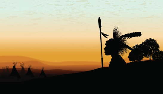 American Indian Teepee Background At Twilight Vector Art Getty 546x314