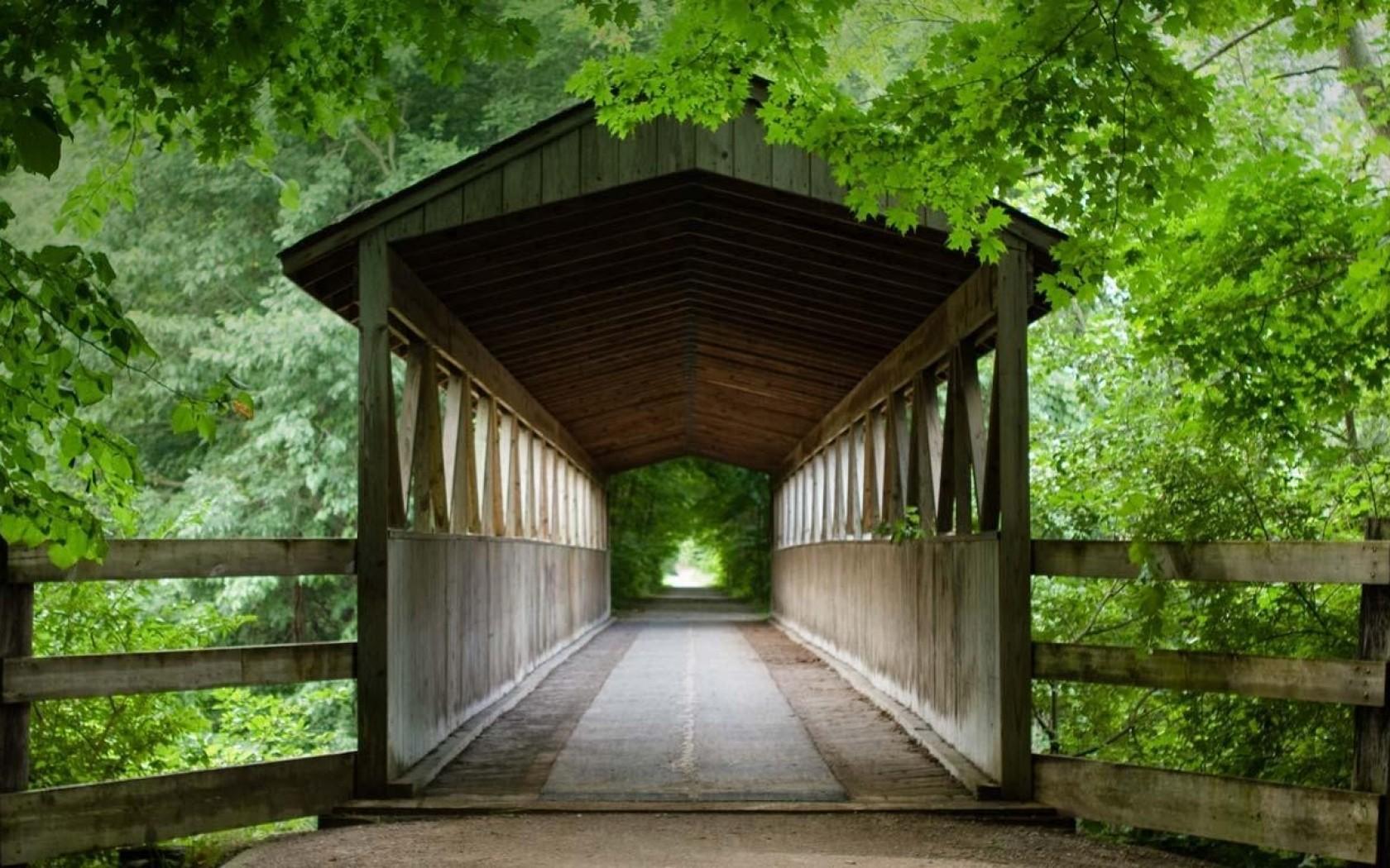 pics Bing Michigan Wooden Bridge bridges leaves desktop bakcgrounds 1680x1050