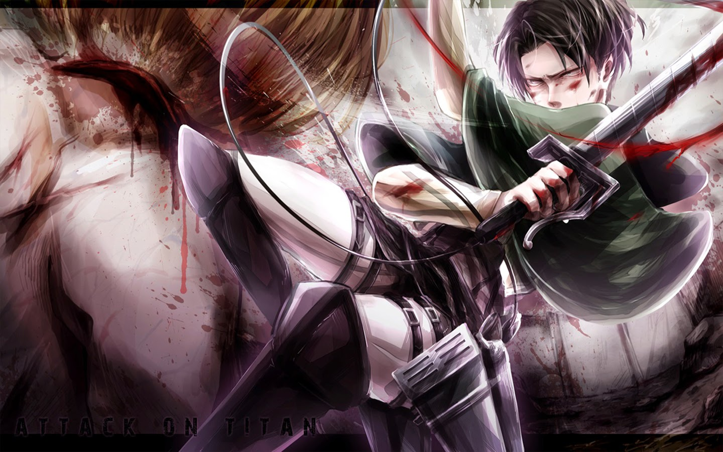levi attack on titan shingeki no kyojin anime hd wallpaper 1440x900 60 1440x900