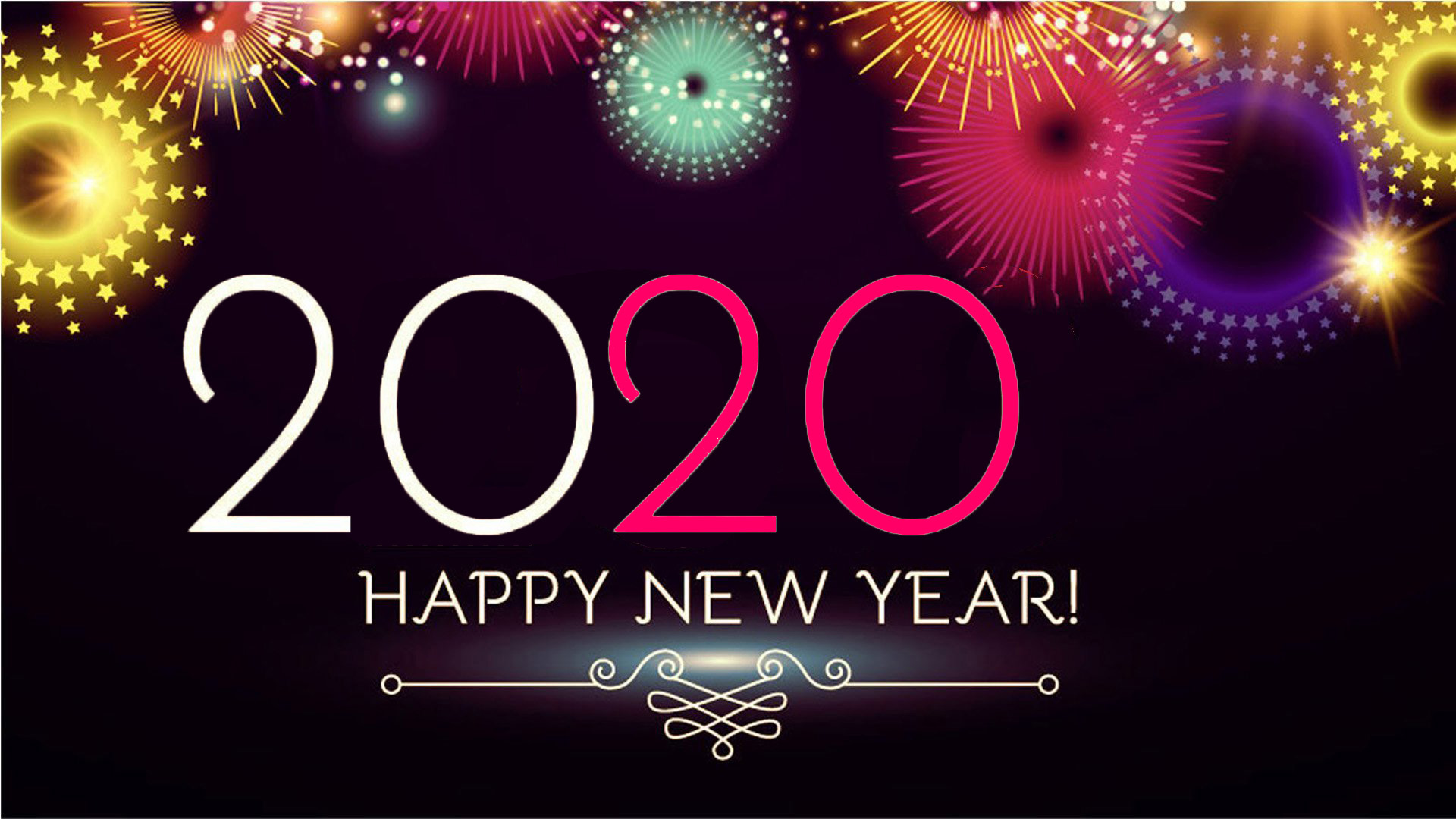 Happy New Year 2020 Wishes Greetings Sms Messaging With Picture 1920x1080