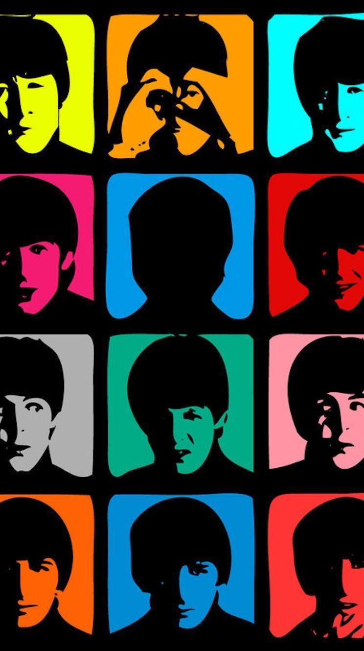 Beatles faces iPhone 5 wallpaper Beatles wallpaper iphone 744x1329