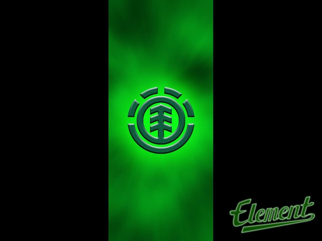Skateboarding Wallpapers Element Skateboards Green Logo 1024x768