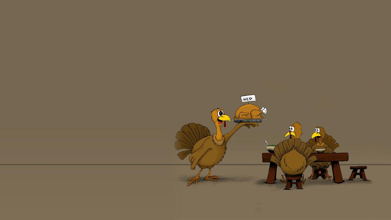 Funny Thanksgiving Desktop Backgrounds wallpaper wallpaper hd 1366x768