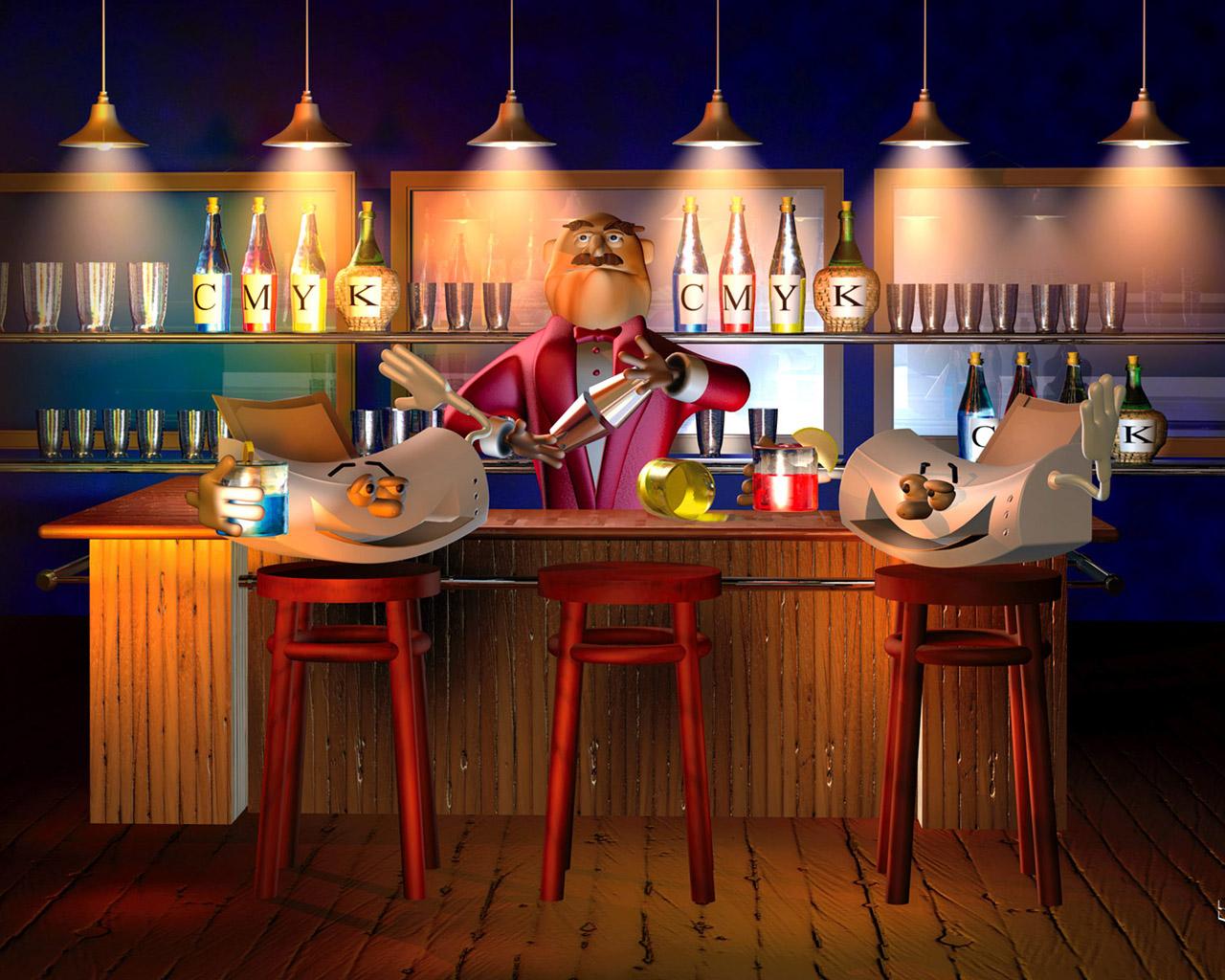 3D Bar Wallpaper Wallpapers   HD Wallpapers 78437 1280x1024