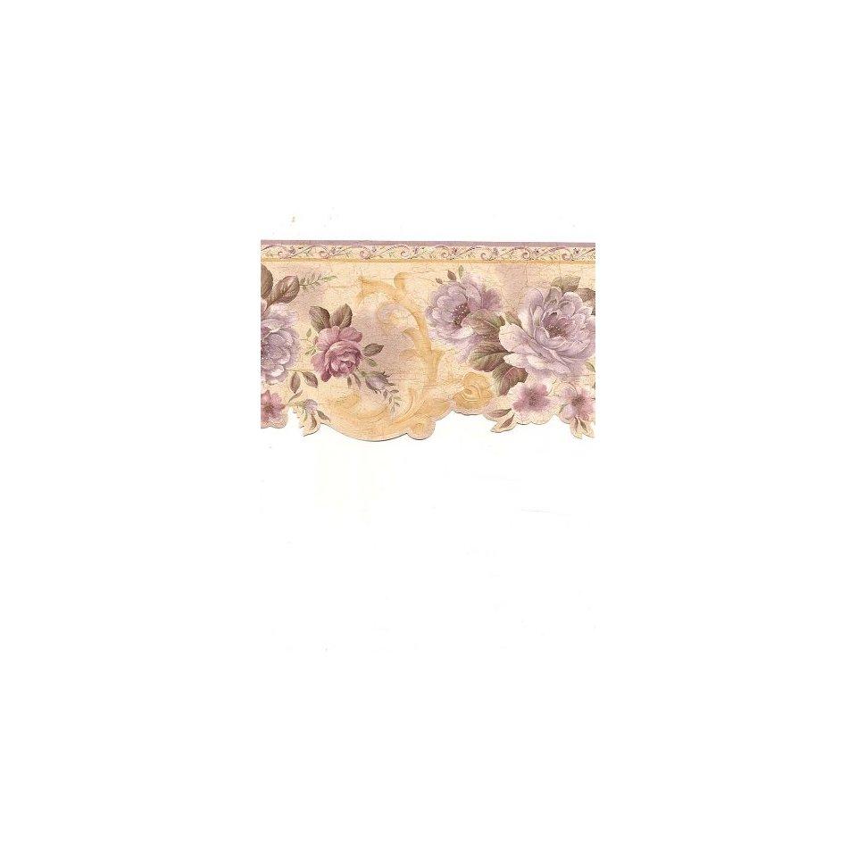 42 Floral Scalloped Wallpaper Borders On Wallpapersafari