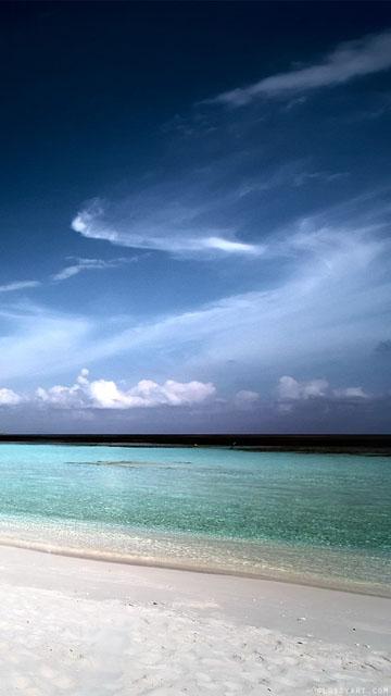 Island beach sea landscape sky mobile phone wallpaper 360x64_New ...