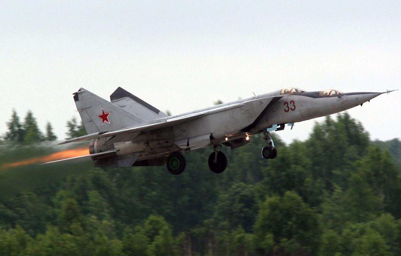Wallpaper The Russian air force Foxbat OKB Mikoyan MiG 25 1332x850