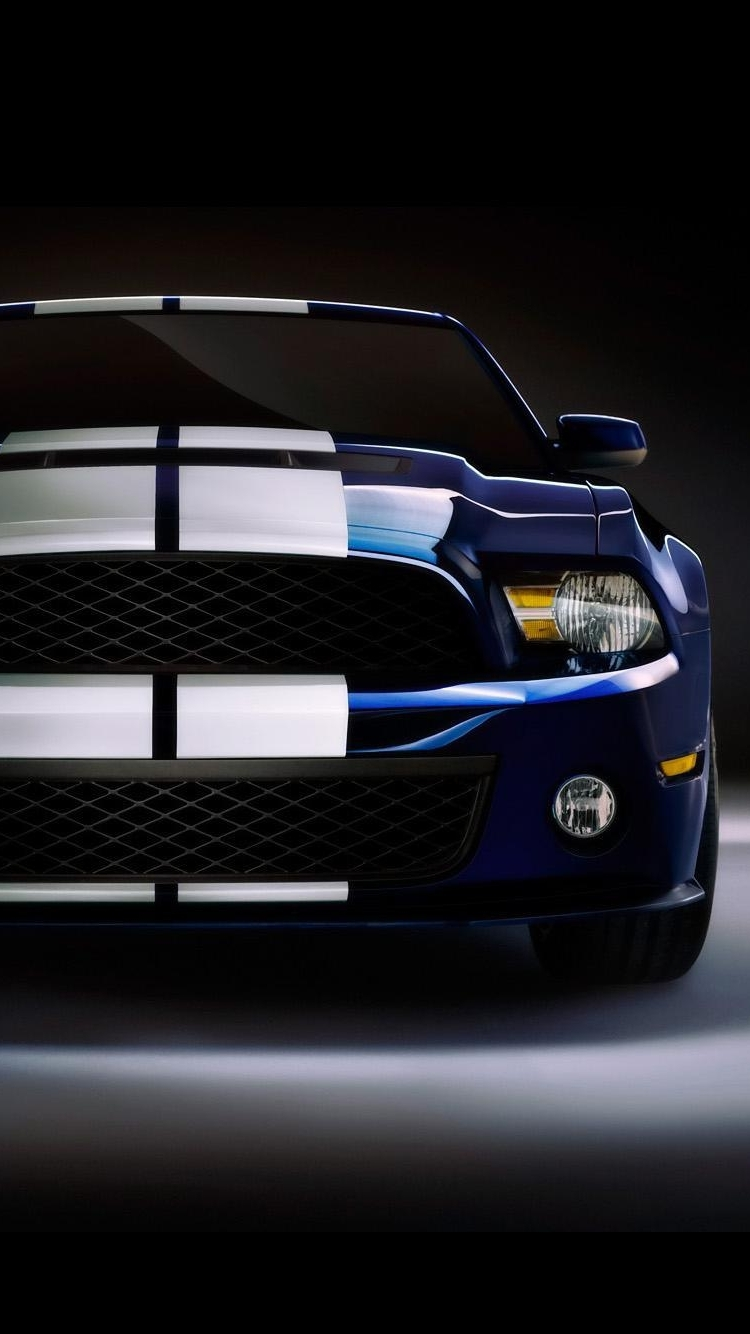 Iphone wallpaper Blue and White Mustang Shelby iPhone 6 and under 750x1334