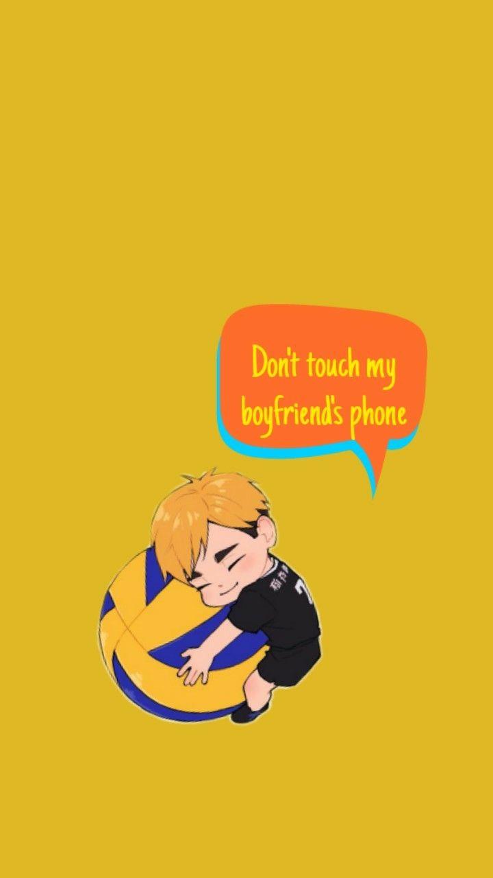 Atsumu Miya wallpaper Dont touch my boyfriends phone 720x1280