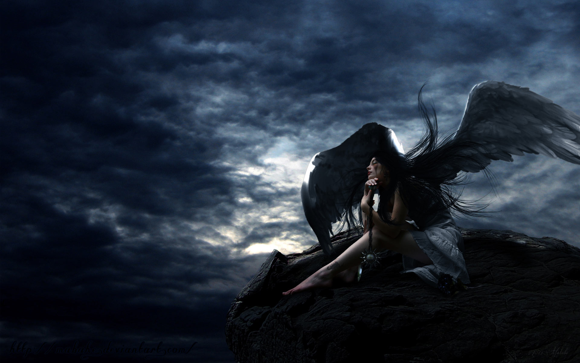 Gothic Angel Lady 1920x1200 pixel Popular HD Wallpaper 31102 1920x1200