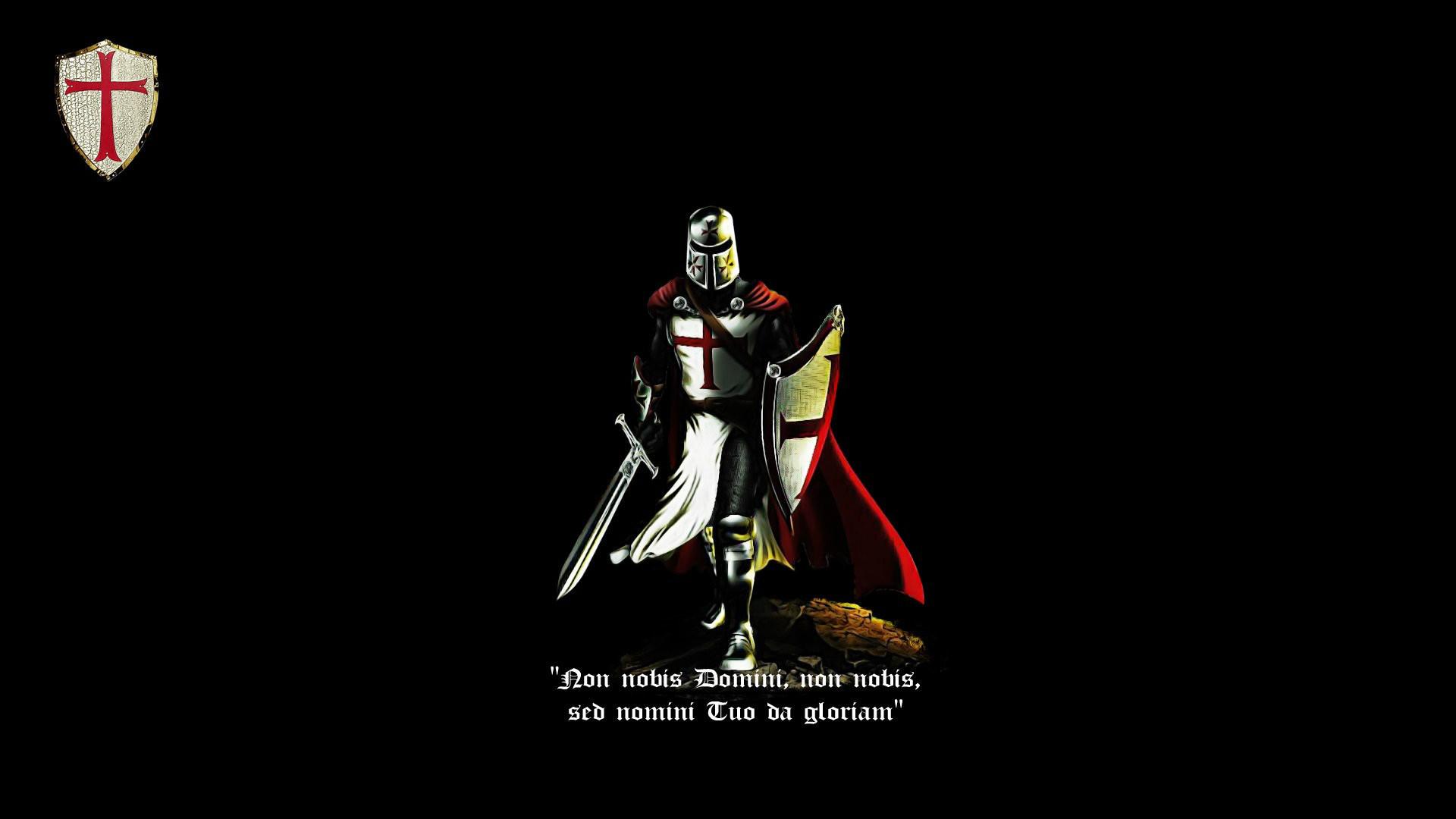 Knight cross knight templar latin crusader cattolic black red 1680x1050