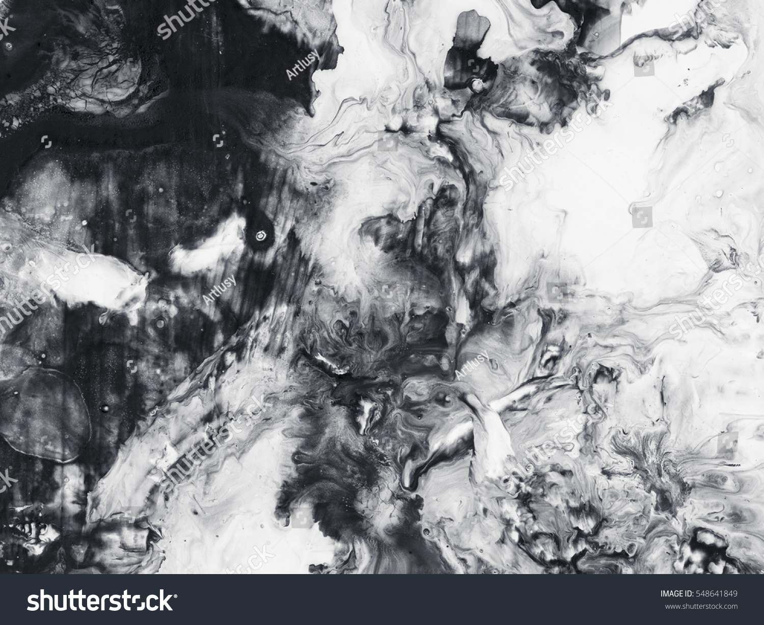 Abstract Hand Painted Black White Background Stock Photo Edit Now 1500x1227