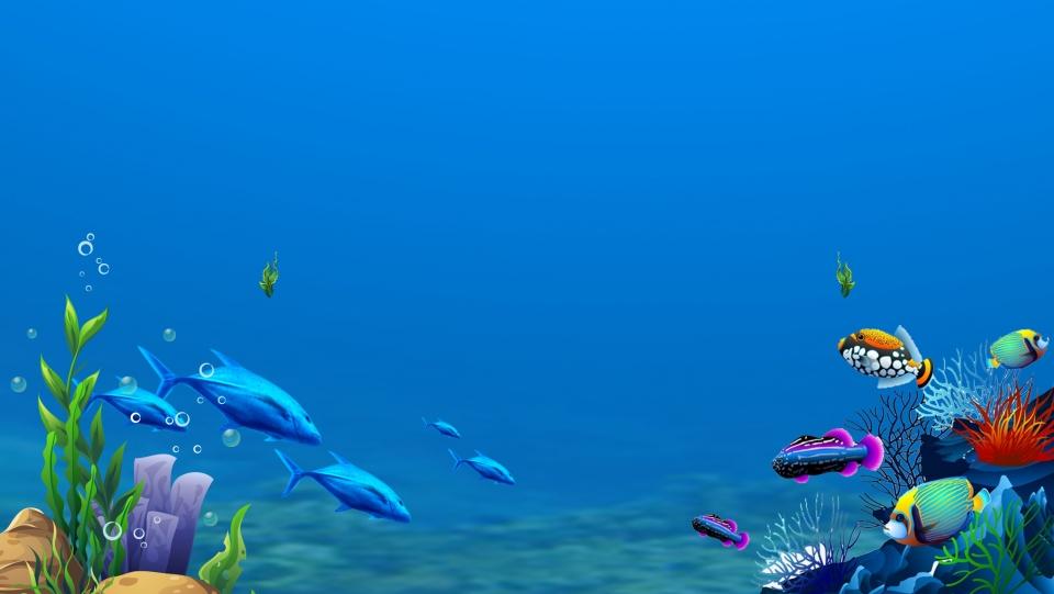 Fresh And Lovely Underwater World Advertising Background 960x541