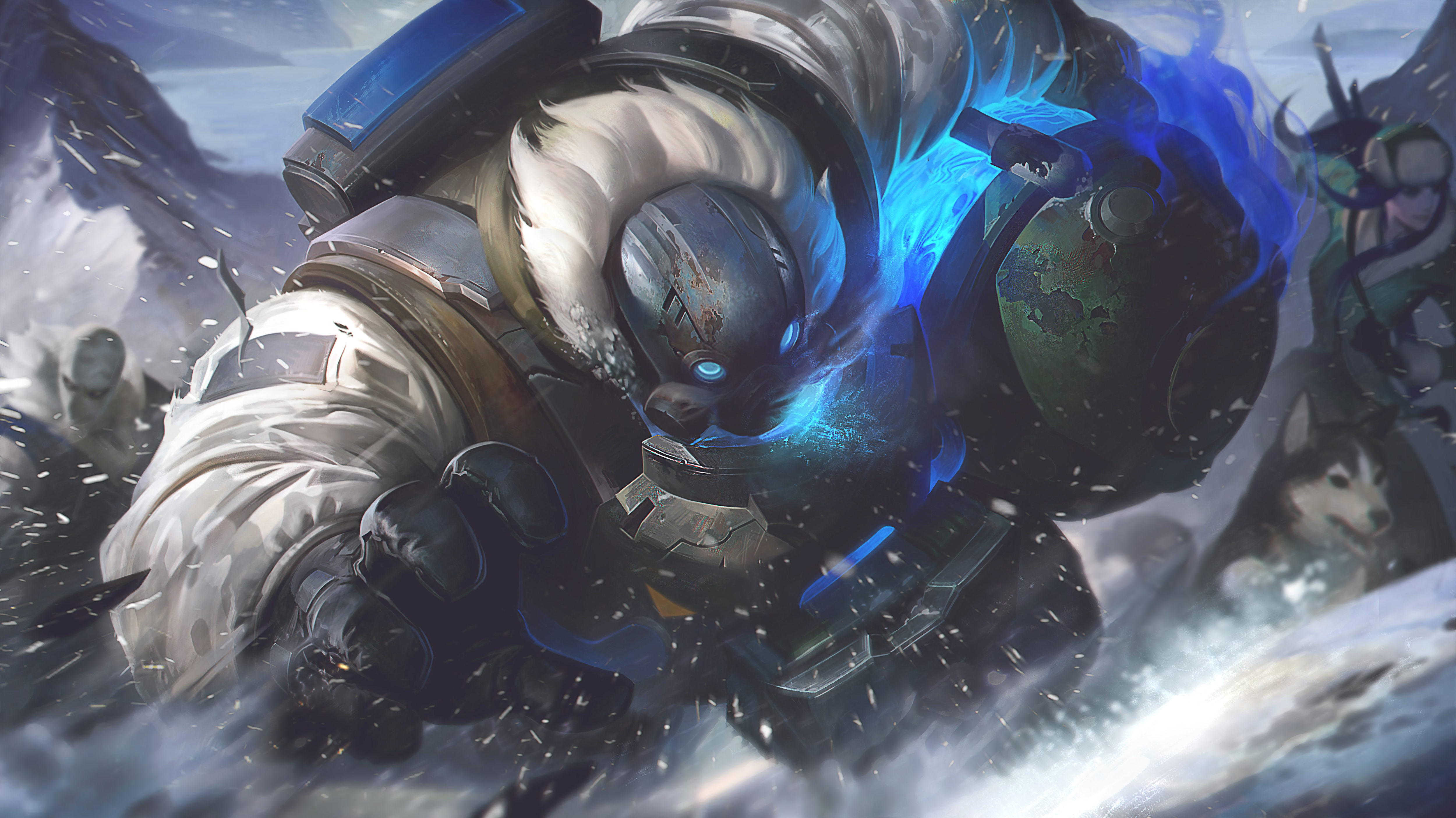 Arctic Ops Gragas LoL Wallpapers 5000x2810