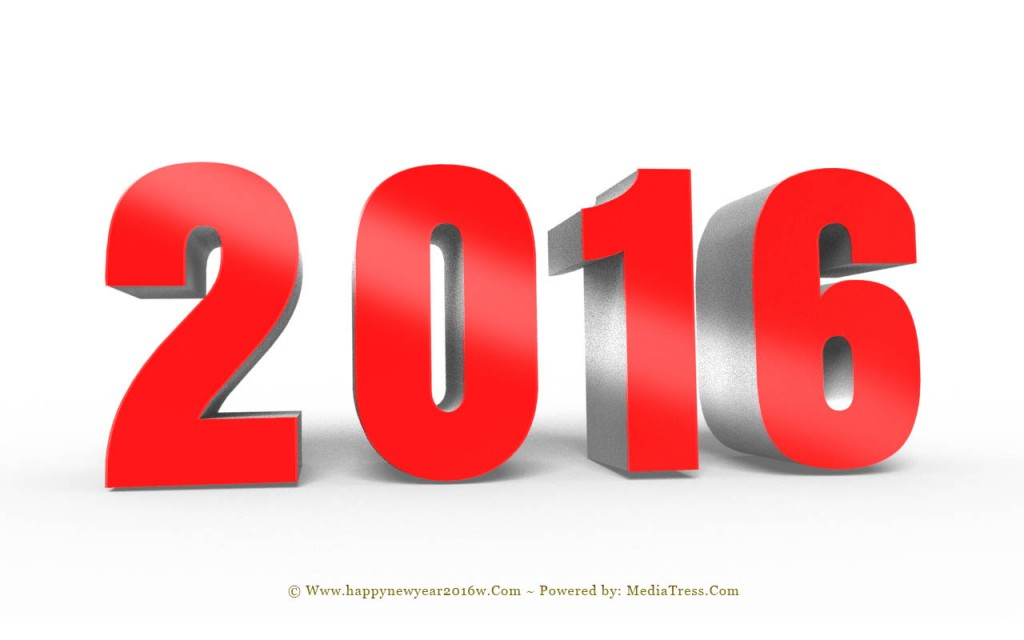 Fantastic New Year 2016 3D Designs with Text Effects 1024x640