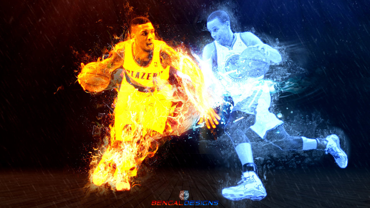 Damian Lillard vs Steph Curry Wallpaper by Bengal by bengalbro 1191x670