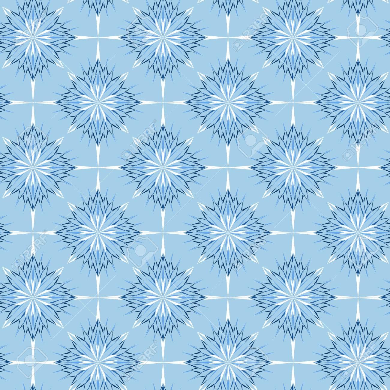 Hermosos Copos De Nieve De Invierno BackgroundVector Ilustracin 1300x1300
