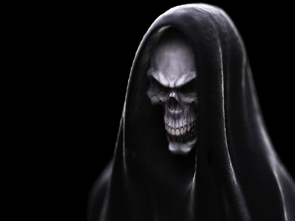 Download Scary Skulls wallpaper dark evil skull 1024x768