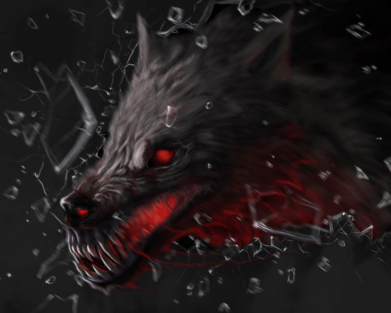 Hd wallpaper beach - Dark Scary Cartoon Wolf In Armor Wallpaper