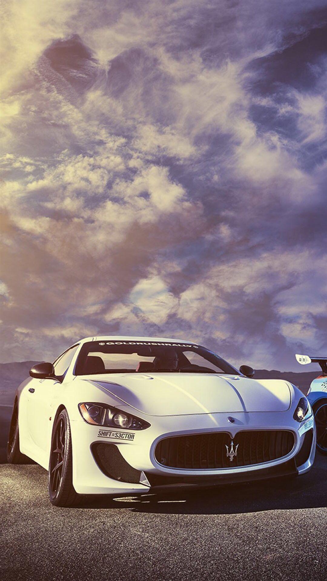 Splendid Maserati Sports Car Sky View iPhone 6 wallpaper 1080x1920