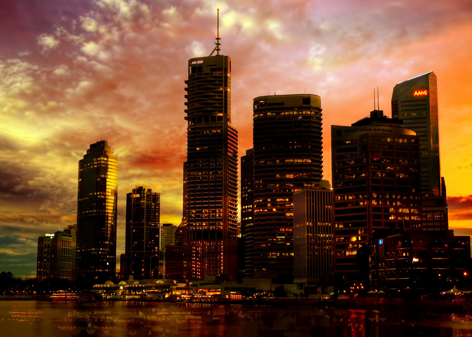 Amazing City Sunset Naturally Backgrounds Wallpapers 1600x1143