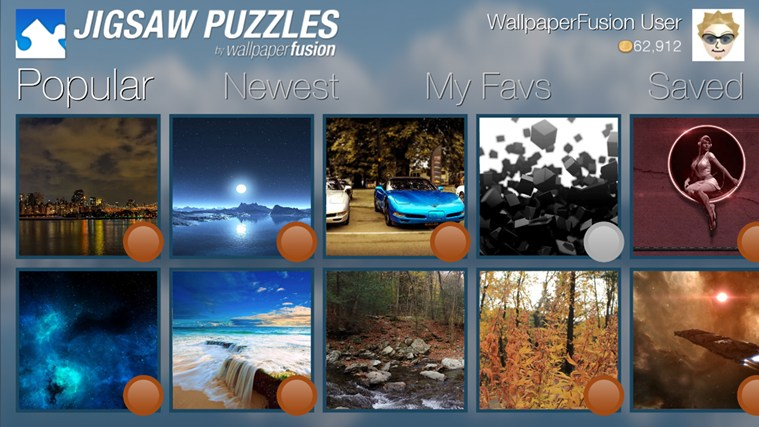 Jigsaw Puzzles by WallpaperFusion app for Windows in the Windows 759x427