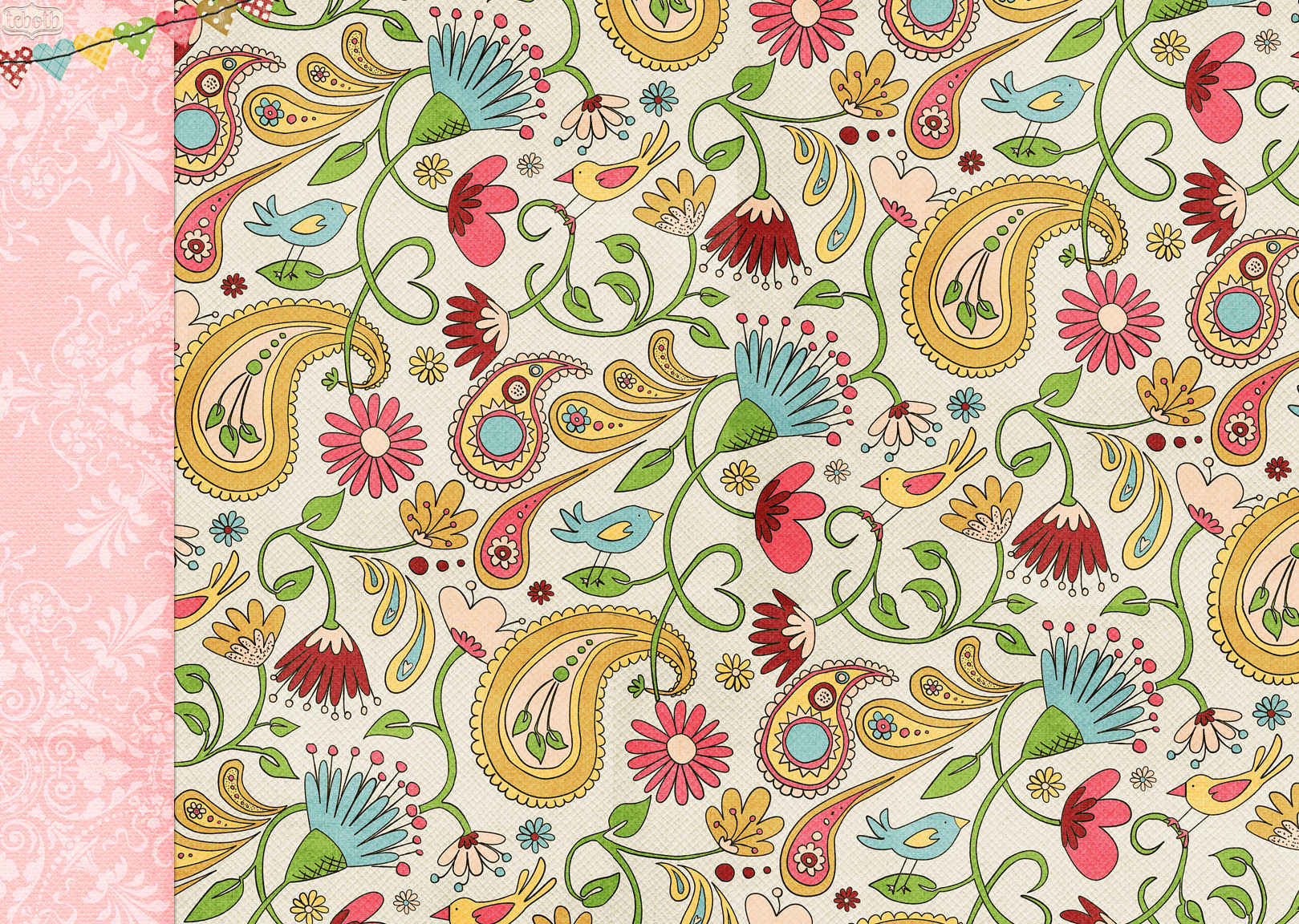 Vintage Paisley Desktop Wallpaper