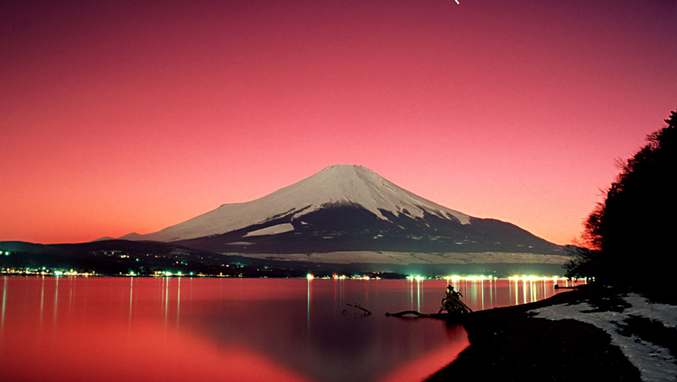 download Mount Fuji Sunset Wallpaper Travel HD Wallpapers 1360x768