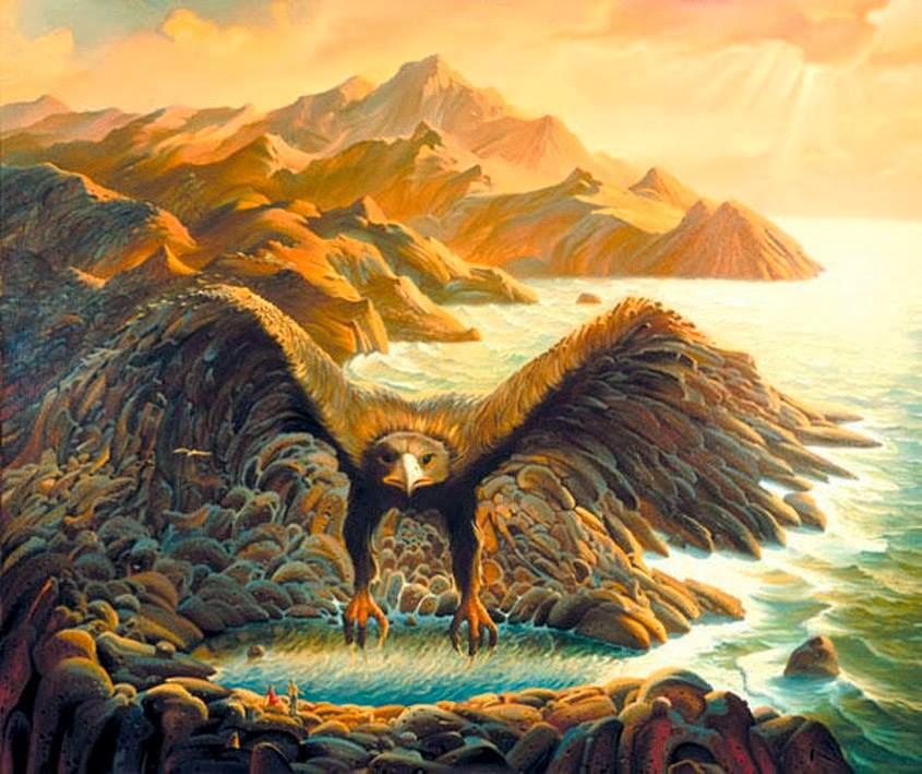 DREAM ZONE Vladimir Kush Paintings Wallpapers 845x709