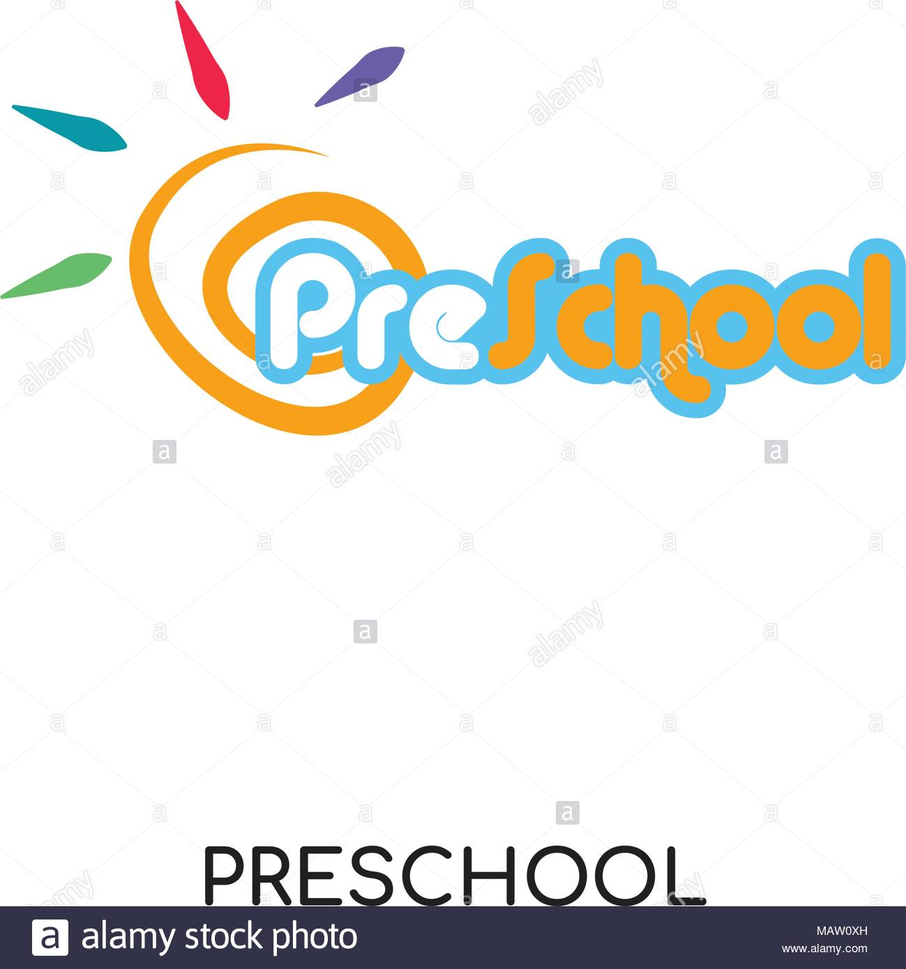 preschool logo image isolated on white background for your web 1299x1390