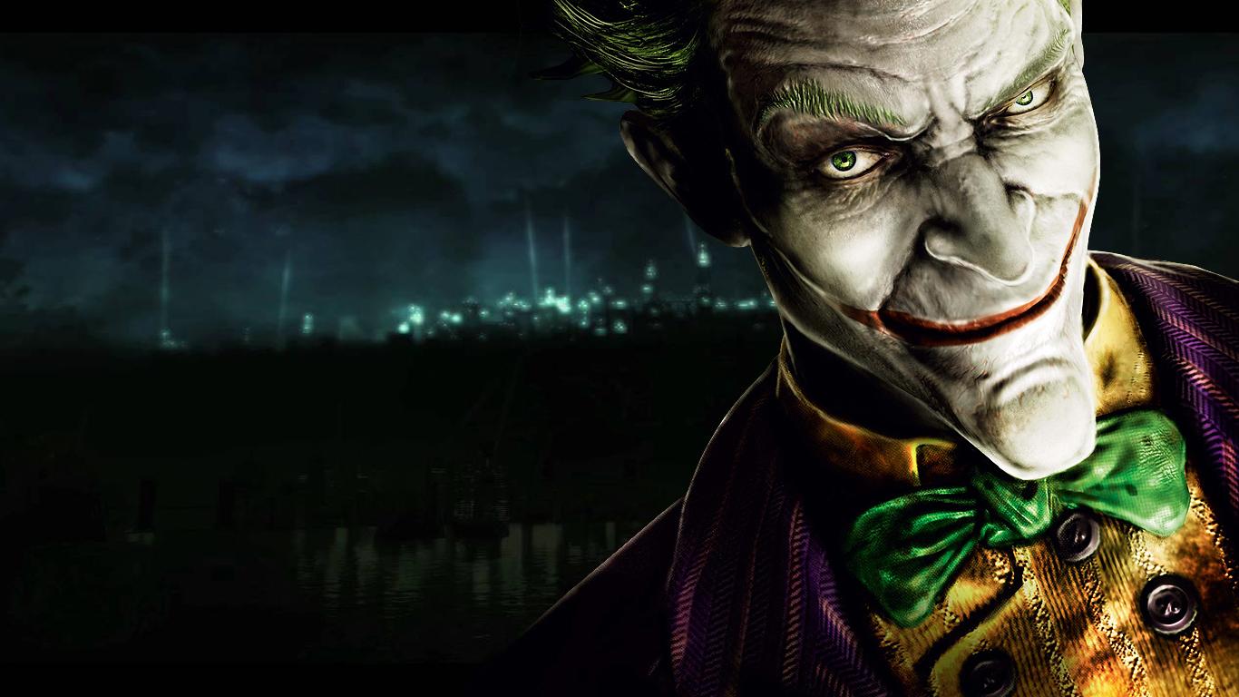 The Joker Wallpaper 1366x768 The Joker Batman Arkham Asylum 1366x768