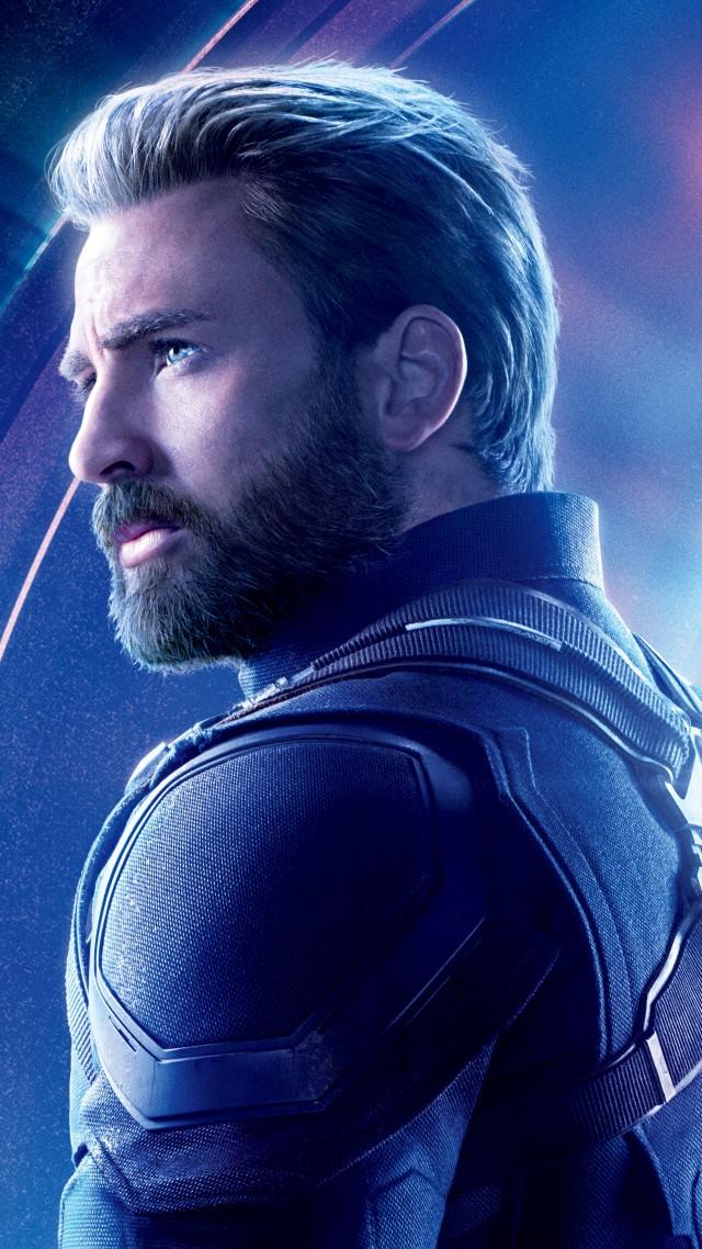 Wallpaper Avengers Infinity War Captain America Chris Evans 8k 640x1138