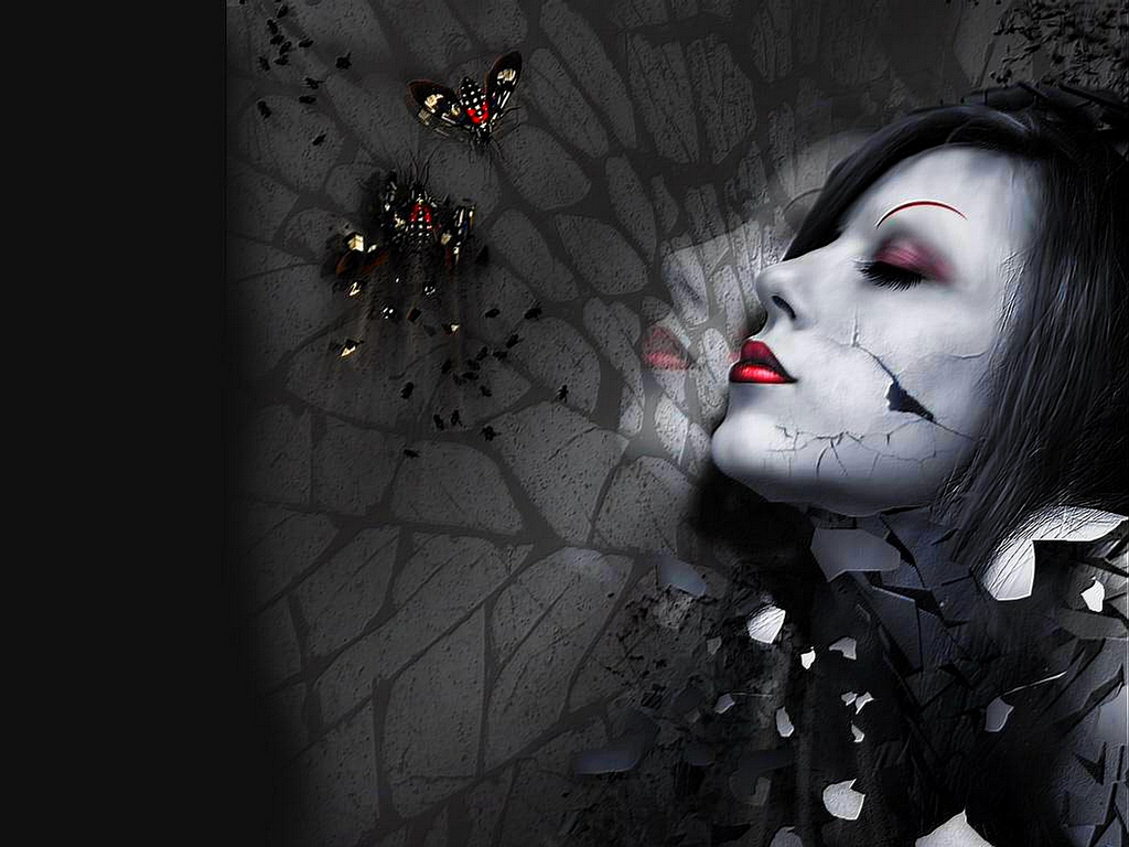 Pics Photos   Girly Gothic Wallpapers 1024x768