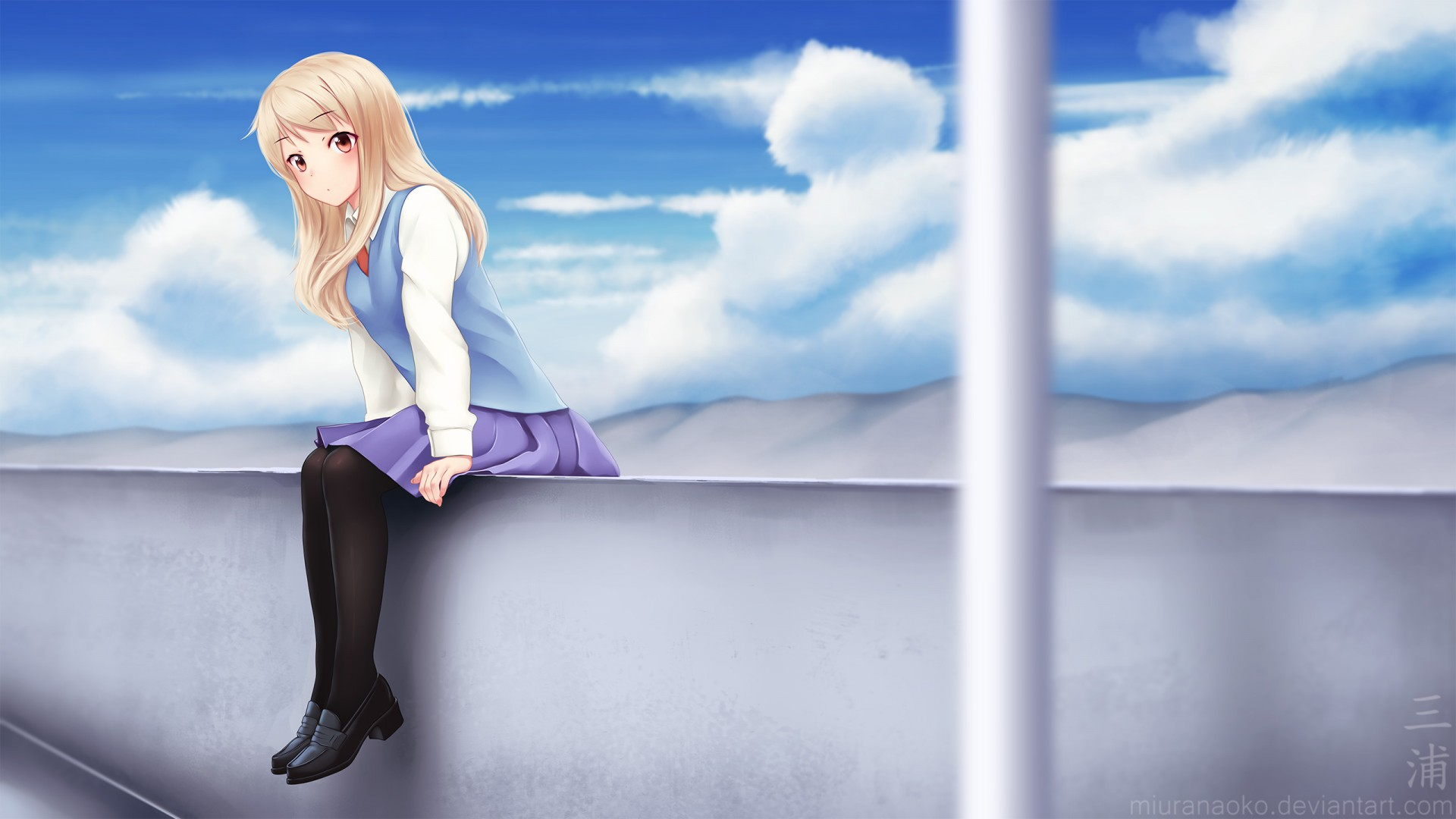 School Girl Anime Fantasy HD Images HD Wallpapers Download 1920x1080