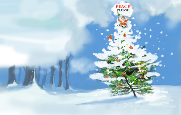Wallpaper please peace christmas holiday wallpapers holidays 596x380