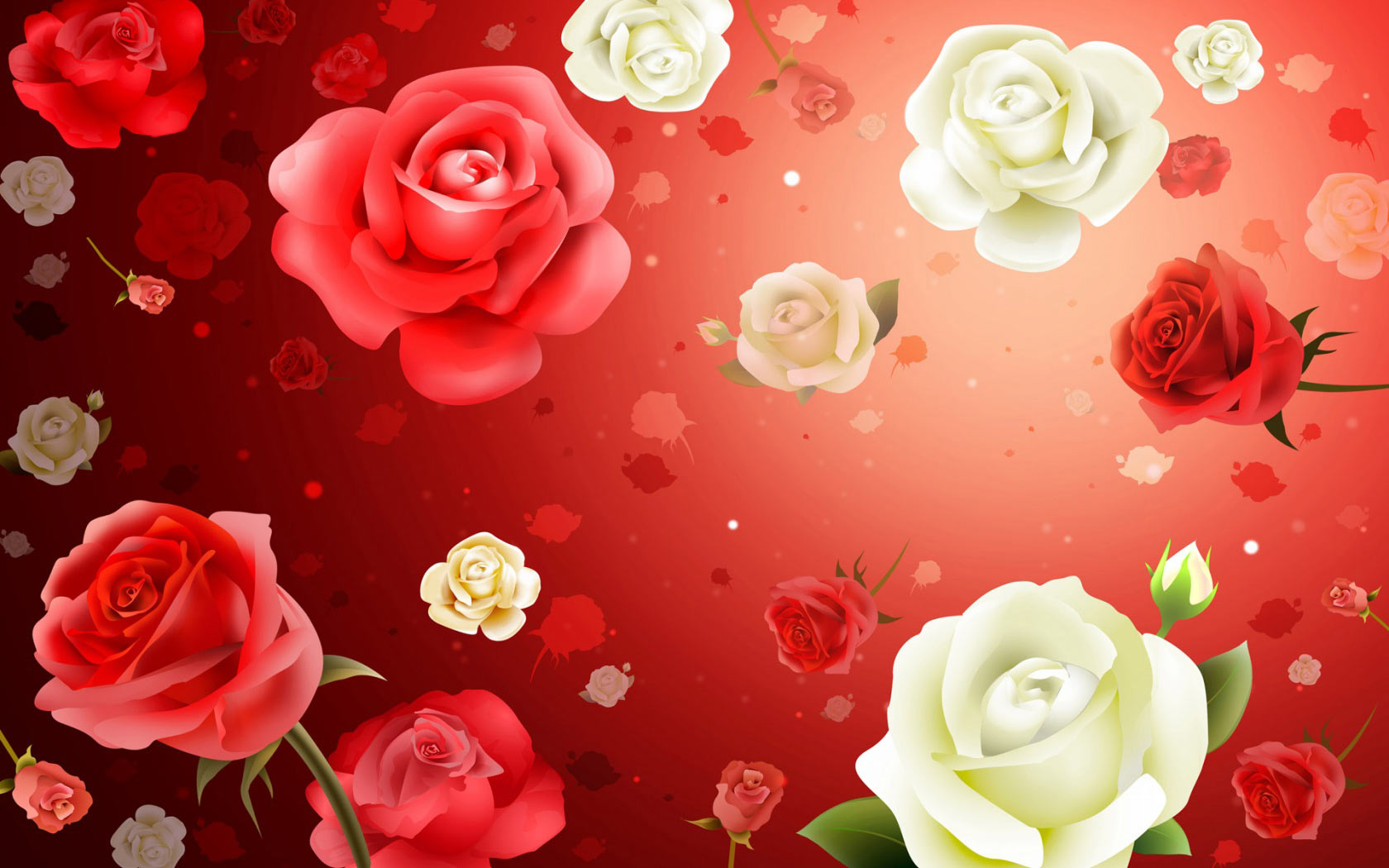 Download Roses flowers backgrounds Windows 7 Desktop Wallpaper in high 1680x1050