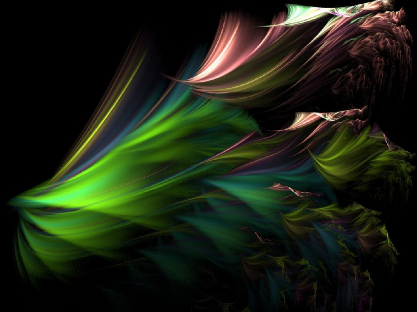 Fractal Peacock Feathers wallpapers Fractal Peacock Feathers stock 1600x1200