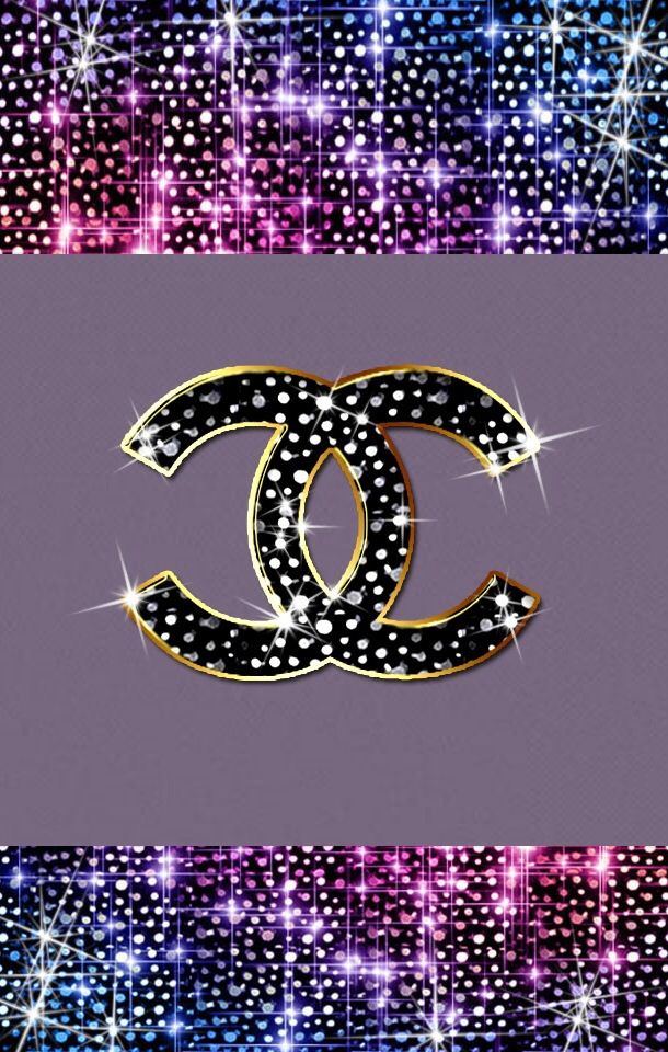 Glitter Chanel Wallpaper iPhone Wallpapers Backgrounds 610x960